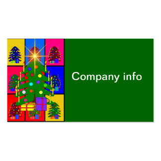 Merry Christmas Tree Business Cards