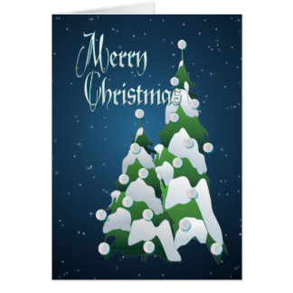 MERRY CHRISTMAS TREE by SHARON SHARPE Card