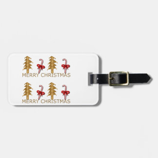 Merry Christmas Tree Candy red gold Tag For Bags