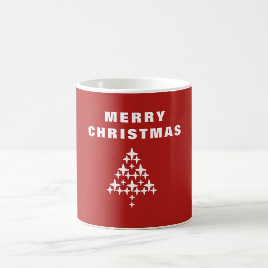 Merry Christmas Tree Coffee Mug Gift - Red
