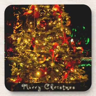 Merry Christmas Tree Coasters