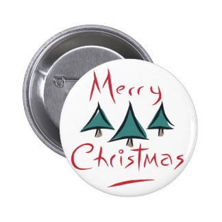 Merry Christmas Tree Doodle Buttons