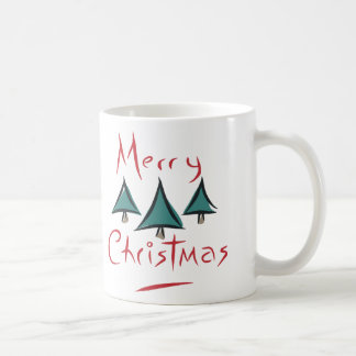 Merry Christmas Tree Doodle Mug