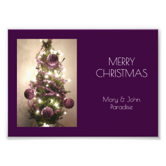 Merry Christmas Tree Eggplant Purple Photography Photo Art