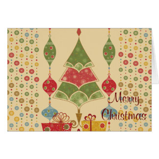 Merry Christmas Tree Folded Holiday Cards