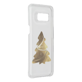 Merry Christmas Tree Gold Look Elegant Case