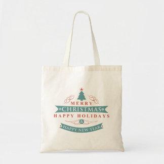 Merry Christmas Tree Holiday Tote Budget Tote Bag