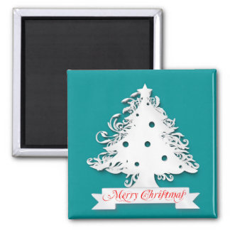 Merry Christmas tree illustration Magnet