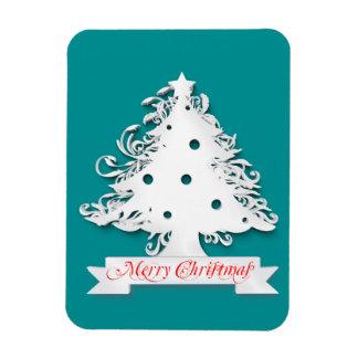 Merry Christmas tree illustration Flexible Magnet