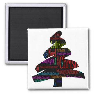 Merry Christmas Tree Fridge Magnet