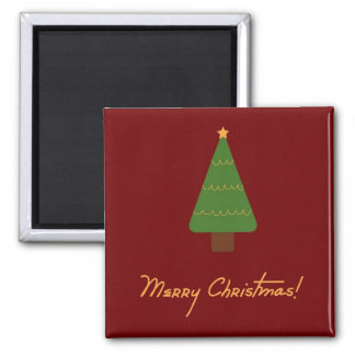 Merry Christmas Tree Magnet