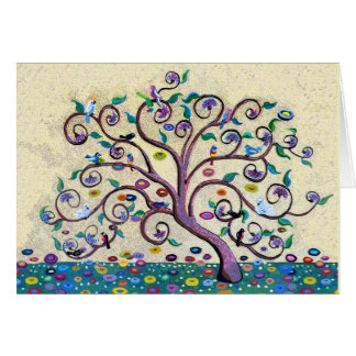 Merry Christmas Tree of Life Greeting Card
