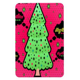 Merry Christmas Tree Rectangular Photo Magnet