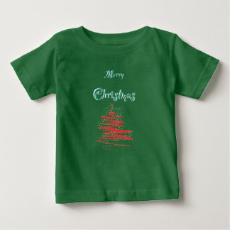 Merry Christmas Tree Snowflakes Baby T-shirts