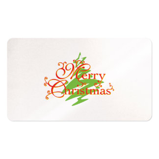 Merry Christmas Tree Star Invitation Postage Label Pack Of Standard Business Cards