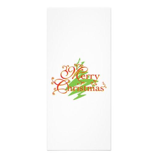 Merry Christmas Tree Star Invitation Postage Label Rack Card