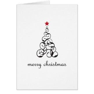 Merry Christmas Tree Swirl Card