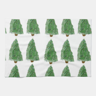 merry christmas tree tea towel