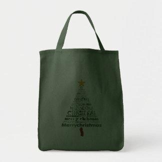 Merry Christmas Tree Tote Bag