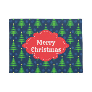Merry Christmas Tree Welcome Doormat
