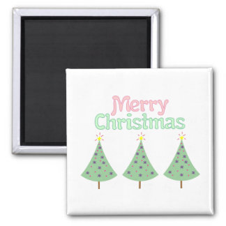 Merry Christmas Trees Magnet