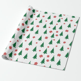 Merry Christmas Trees Wrapping Paper