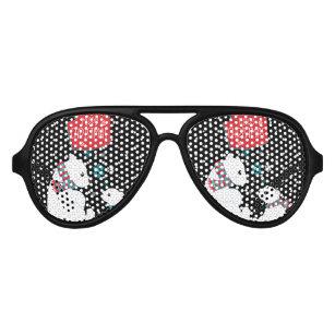 024a4bf6a59 Merry Christmas Two Polar Bears Aviator Sunglasses