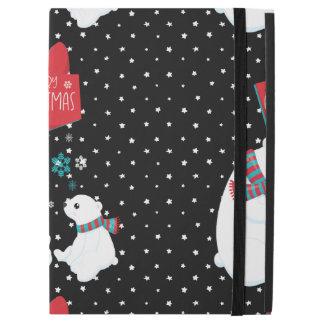 "Merry Christmas Two Polar Bears iPad Pro 12.9"" Case"