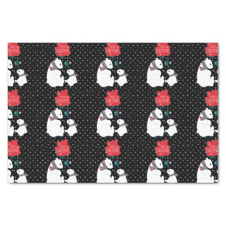 Merry Christmas Two Polar Bears Tissue Paper