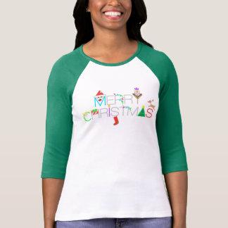 Merry Christmas Type T-Shirt