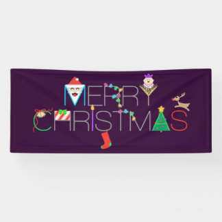 Merry Christmas Typography Banner