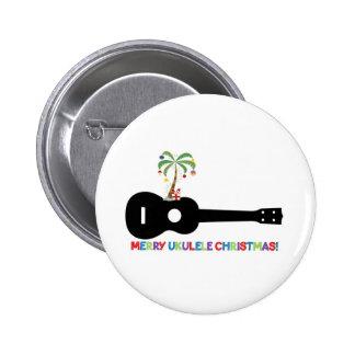 Merry Christmas Ukulele Button