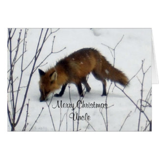Merry Christmas Uncle-Fox Card