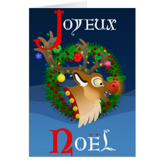 Merry Christmas: Version rudolph Card