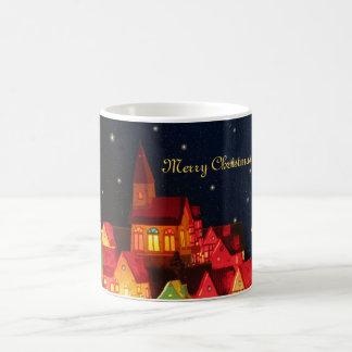 Merry Christmas Village Mug