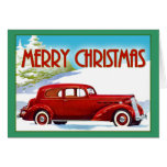 Merry Christmas - Vintage 1938 Packard Greeting Cards