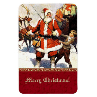 Merry Christmas.  Vintage Christmas Gift Magnet