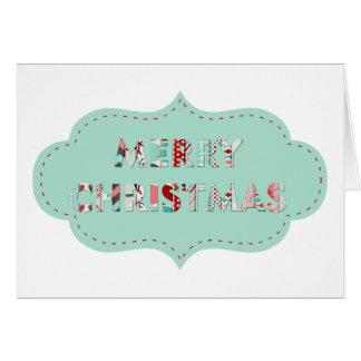 Merry Christmas Vintage Label Designs Card