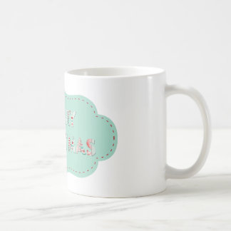Merry Christmas Vintage Label Designs Mugs