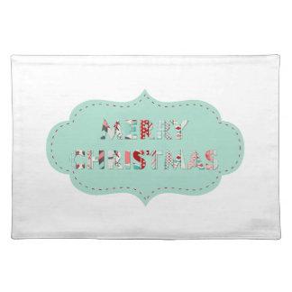 Merry Christmas Vintage Label Designs Cloth Placemat