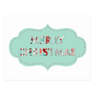 Merry Christmas Vintage Label Designs Postcard