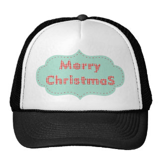 Merry Christmas Vintage Label! Trucker Hat