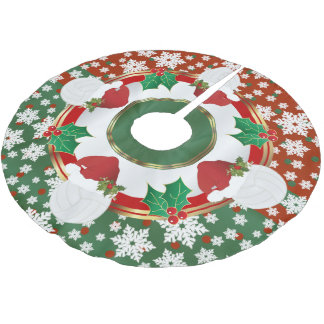 Merry Christmas Volleyball Lovers Brushed Polyester Tree Skirt