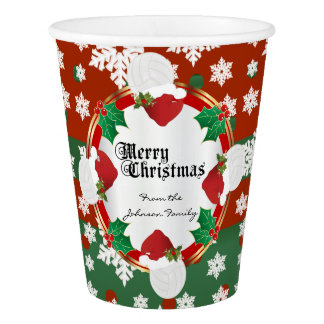 Merry Christmas Volleyball Lovers Paper Cup