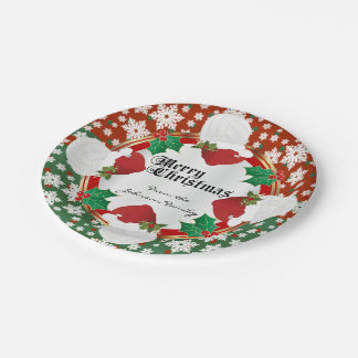 Merry Christmas Volleyball Lovers Paper Plate