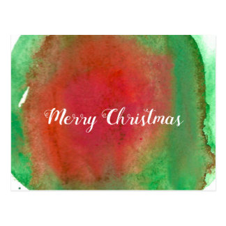 Merry Christmas, Water Color Postcard