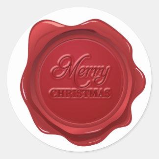 Merry Christmas Wax Seal Effect Sticker