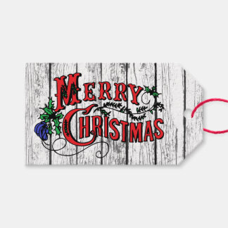 Merry Christmas Weathered Gift Tags