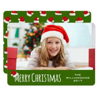 Merry Christmas Whimsical Santa Hat Card