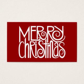 Merry Christmas White Gift Tag